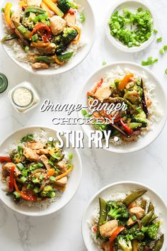 One-skillet orange-ginger chicken and vegetable stir-fry. You're going to love this healthy, homemade stir-fry recipe.