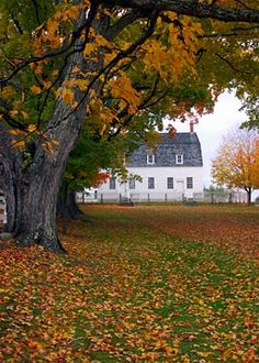 Canterbury Shaker Village, Canterbury, NH; Meetinghouse Lane leading to the Meetinghouse