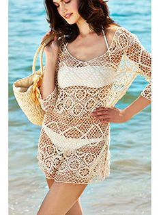 83f159debf699 Keep Looking Busy - MG Collection Stylish Crocheted Cotton Beach Swimsuit  Cover-Up Dress w