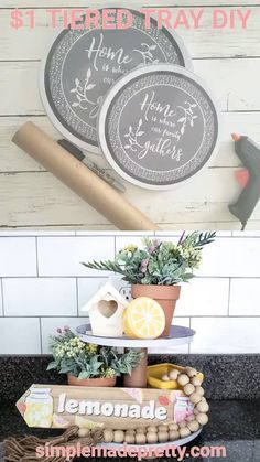 Super home decored ideas diy dollar stores tutorials ideas Dollar Tree Fall, Dollar Tree Decor, Dollar Tree Crafts, Ideias Diy, Tray Decor, Dollar Stores, Tray Styling, Crafting, Diy Crafts