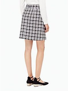 textured tweed a-line skirt by kate spade new york