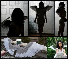 Felt Wings .:. Gray.White for Pyaun17 by Kamakru
