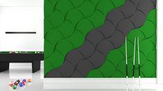 Kolekcja Fluffo SHELL: gabinet, pokój do pracy, miejsce do pracy, pokój gier, bilard, design, design z Polski, architektura wnętrz, wnętrza, wnętrze, interior design, panele ścienne, panele 3d, panele ścienne 3d, ściana 3d, dekoracje ścienne, ozdoby ścienne, pomysł na ścianę, aranżacja ściany, miękkie panele ścienne 3d, Fluffo, Fabryka Miękkich Ścian