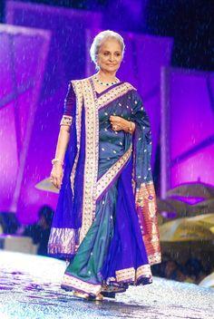 Waheeda Rehman in a Shaina NC #saree