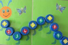 Placer les bouchons dans l'ordre des nombres (Nathaliell)