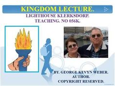 Lighthouse Klerksdorp invites you to share these free lectures. With all the foregoing we can thank God that God has sent Christ Jesus the Son of God, and th.