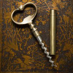 Brass Key Bottle Opener + Corkscrew - Cool Material