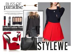 """""""STYLEWE outerwear for autumn!"""" by dz-eminaa ❤ liked on Polyvore featuring Giuseppe Zanotti, Maybelline, Christian Dior and stylewe"""