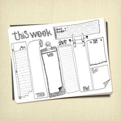 Prinable Weekly To Do List Planner Instant Download, Meeting Notes Sheet, Work Planner, Life Planner Insert template to print at home