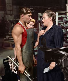 Worker And Supervisor, Car Factory, Moscow, 1954