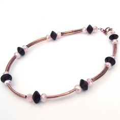 Pink Crystal and Copper Necklace £10.00