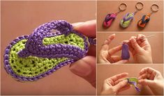 Today, together withFrancesca Uncinettando Crochet&Love, we will learn how to make these tiny keychain flip-flops. It is a very nice and quick project, perfect
