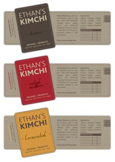 print or packaging design for Ethan's Kimchi | 99designs