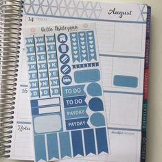 28 Piece Decorating Kit - H August   Erin Condren Horizontal Planner
