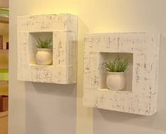 Resultado de imagen para decoracion de paredes con cajas de carton