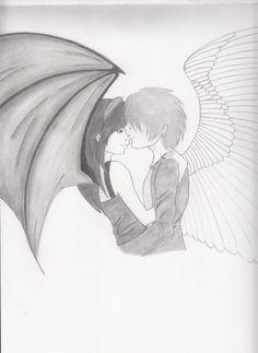 cute emo couple drawings   Emo Couple