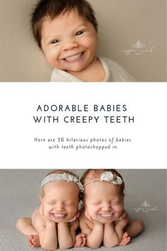 We can all agree that babies are adorable and that a nice set of pearly whites is desirable. That said theres something about babies with teeth that is well hilariously creepy. Baby Trivia, Very Funny Pictures, Baby Pictures, Baby Photos, Funny Babies, Cute Babies, Mom Humor, Baby Humor, Wanting A Baby
