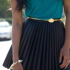 Fancy - Seashell Buckle Skinny Belt