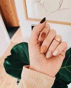 nails one color nails one color ; nails one color simple ; nails one color acrylic ; nails one color summer ; nails one color winter ; nails one color short ; nails one color gel ; nails one color matte Tan Nails, Fall Gel Nails, Coffin Nails, Gradient Nails, Cute Fall Nails, Simple Fall Nails, Summer Nails, Fall Manicure, Fall Almond Nails