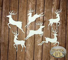 "Laser Cut Chipboard Set ""Reindeer"" by SiberianDIYcraftsArt on Etsy"