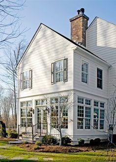 "2 story ""porch"" addition. roofline. Colonial Addition - traditional - exterior - philadelphia - Worthington Custom Builder Inc."