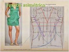 Resultado de imagen para patrones o moldes para confeccion de vestidos