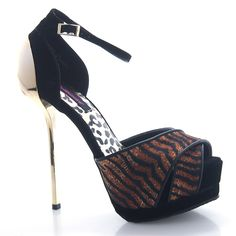 This fashion heel features a peep toe, an ankle strap, and a plated round heel with a 5 inch heel and 1.5 inch platform. All man made material. True to size; by Dollhouse.