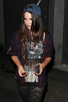 lana del rey.... I love her style because she is mostly vintage but than throws in the festival vibe too!
