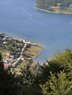 Mavrovo Lake, villages Mavrovo and Rostushe, Macedonia
