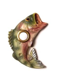 Vicki Lane Doorbell Decor Jumping Bass....I want this for our Gun Lake house.