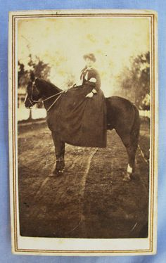 Civil War Era CDV Photo of Young Woman Equestrienne on Horse Nice Riding Habit | eBay