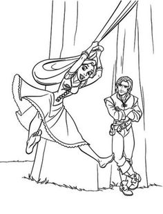 Tangled Coloring Pages Online  omalovnky  Pinterest  Coloring