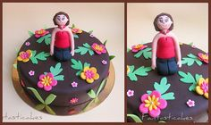 I made this cake ans another one (chocolate cake, chocolate buttercream) in one night from 22.00 to 3.00, for my daughter to offer it to her teachers. I've done the little one (16 cm) for my youger daughter (3 years) only because she is so jalous of  cake