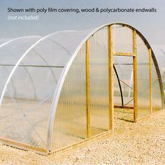 16' WideX48' long $758.00   Cold Frame - Economy Greenhouse Structures