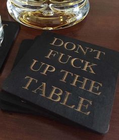 Amazon.com | Don't Fuck Up The Table Wood Coasters: Coasters