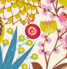 Summer Totem in Tart /  LouLouthi Fabric /  - Anna Maria Horner -  1 Yard  Cotton Quilt Fabric. $8.50, via Etsy.