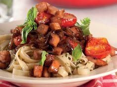 Rainbow Gospel Radio   Pasta with roast tomatoes and sausage