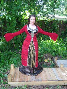DIY Ghawazee Coat from a thrift dress