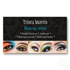 MakeUp Artist, Cosmetologist, Beauty, Salon Business Card ...