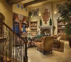 Image Search Results For Tuscan Living Rooms. Love The Iron Piece Over The  Mantel