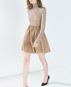 Image 1 of SHORT SKIRT WITH ELASTICATED WAIST from Zara
