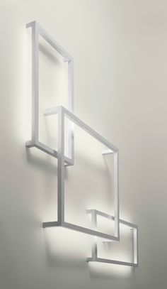 Fluorescent aluminium wall lamp FRAMEWORK Lightecture Line by AXO LIGHT | design Manuel Vivian