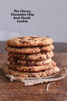 Vegan Giant Chocolate Chip & Chunk Cookie | Vegan Richa