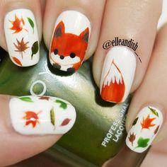 fox by elleandish__ #nail #nails #nailart