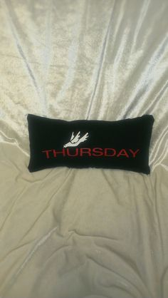 thursday post hardcore emo pillow by malicesrockinpillows on Etsy, $18.00