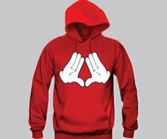 Diamond Sign Mickey Hands Unisex Hooded Sweatshirt Funny and Music