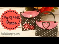 How To Make A Purse Gift Bag This is such a cute little gift bag. Made with Pop Of Pink Specialty Designer Series paper from Stampin' Up!. It is quick and si...