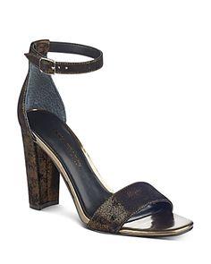 963652d6d0b Ivanka Trump Women s Emalyn Ankle Strap Block Heel Sandals Ankle Strap  Block Heel