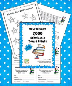 FREE on Corkboard Connections: How to Earn 7,000 Scholastic Bonus Points! This system really works!