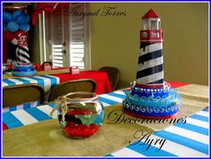 Aurymil T's Birthday / Nautical - Photo Gallery at Catch My Party Baby Shower Deco, Shower Party, Baby Shower Parties, Baby Shower Themes, Baby Boy Shower, Shower Ideas, Nautical Mickey, Nautical Party, Anchor Birthday